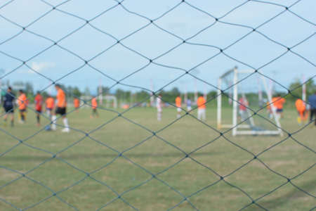 soccer pitch: blurred soccer players on a soccer pitch