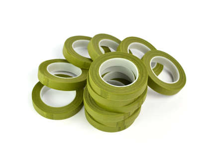 adhesive: Adhesive tape isolated on white Stock Photo