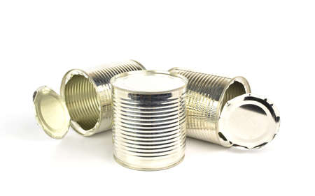 pulltab: Tin can on white background