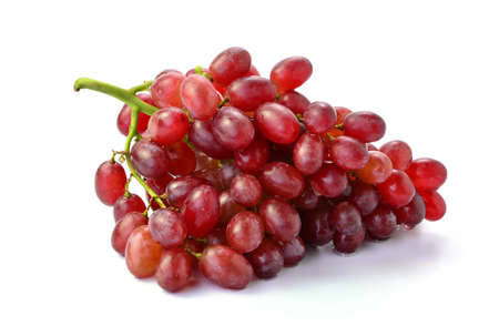 Red grapes isolated on white background 스톡 콘텐츠