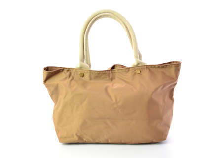 personal shopper: brown bag isolated on white background Stock Photo