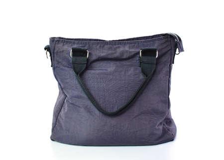 vanity bag: dark blue bag isolated on the white background Stock Photo
