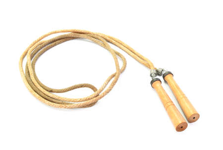 Skipping rope on a white background