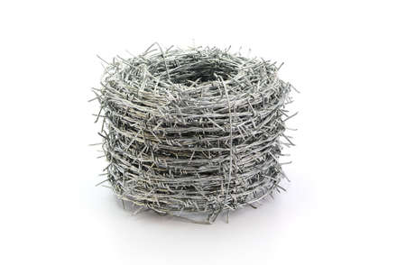 barbed wire roll isolated on white background