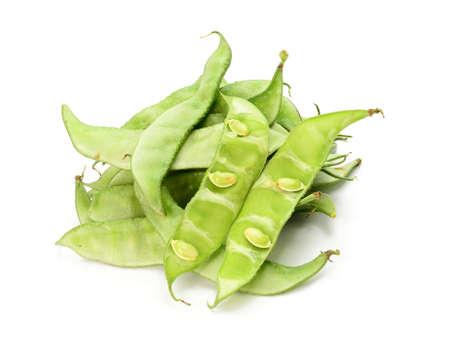 lablab bean or Dolichos bean on white background