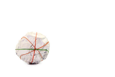 wastrel: Crumpled paper ball on white Stock Photo
