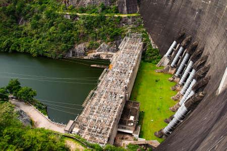 Electric power plant, bhumibol dam in Tak province, Thailand Stock Photo