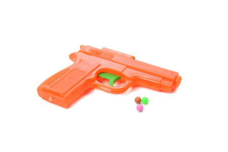 toy gun isolated on the white background