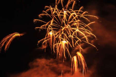 fireworks celebration in night sky