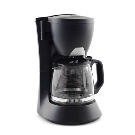 coffee maker machine isolated on white background 版權商用圖片