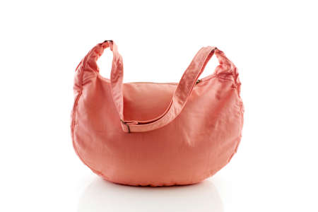 pink shoulder bag isolated on white background Stock Photo