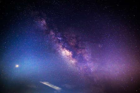 Galaxy milky way in night sky background 스톡 콘텐츠