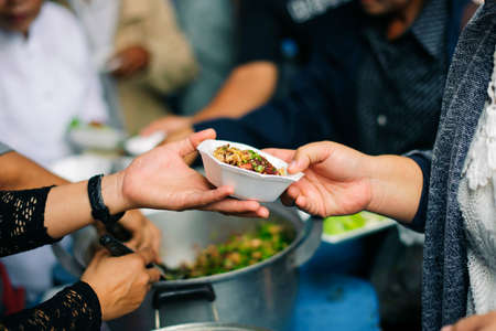 Society of donations and food sharing for the poor: ideas about helping