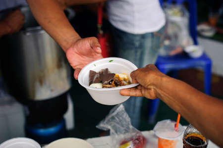 Helping people by donating food: The concept of feeding