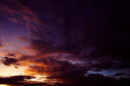 Beautiful sky after sunset at twilight