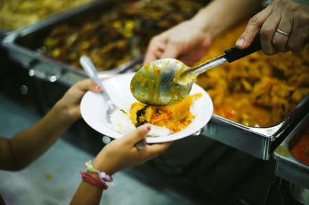 Food donation to the poor in human society : the concept of helping each other