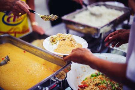 Free food needs of refugees, food distribution