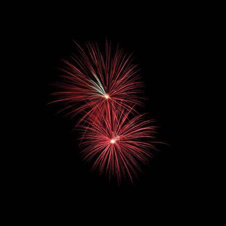Colorful fireworks explosion on black background Stock fotó