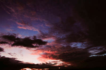 Abstract of the sky in the evening, beautiful colors.