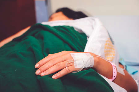 Patients with influenza are treated in hospital