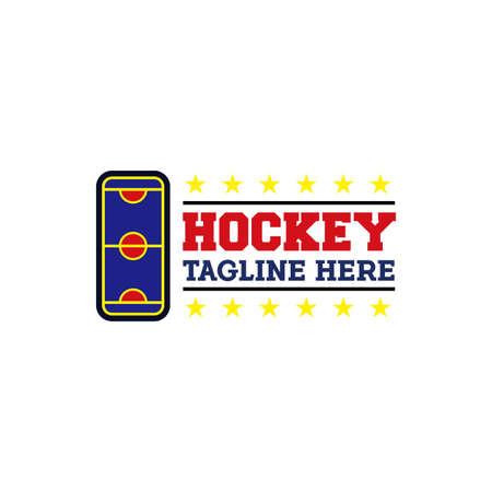 Hockey field logo design, consisting of a field hockey icon - vector Фото со стока - 146835515
