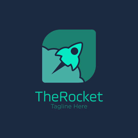 rocket logo design vector template. innovation icon. science icon. discovery icon.