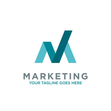 letter M trade marketing logo design vector. with initial M as chart diagram graphic, financial, investment, company logo vector