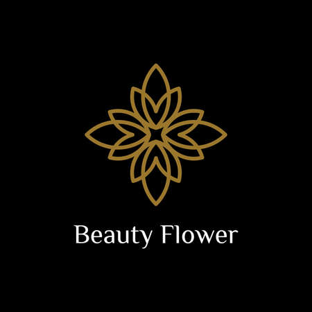 line art flower icon pattern logo design vector inspiration. beauty spa salon logo. cosmetic brand logo