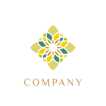 flower icon pattern logo design vector inspiration. beauty spa salon logo. cosmetic brand logo