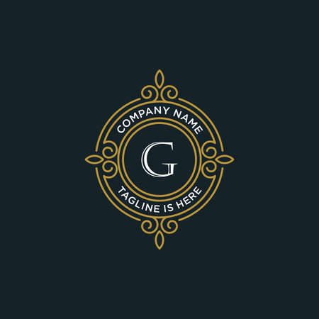 luxury monogram letter G logotype. premium brand icon. elegant alphabet/initial frame design vector. can be used for beauty industry, cosmetics, salon, boutique, spa, company, corporate, etc.