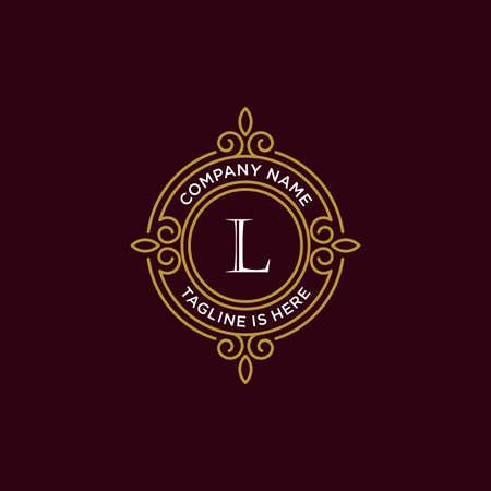 luxury monogram letter L logotype. premium brand icon. elegant alphabet/initial frame design vector. can be used for beauty industry, cosmetics, salon, boutique, spa, company, corporate, etc.