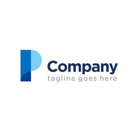 simple letter P logo icon design template elements. company logo. marketing logo. initial logo.