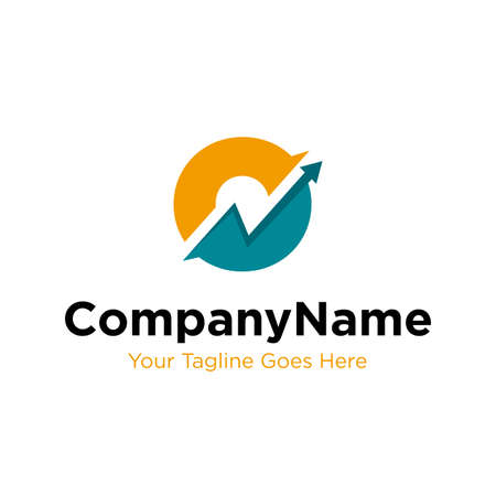 letter O trade marketing logo design vector. initial O and chart diagram graphic concept. company, corporate, business, finance symbol icon