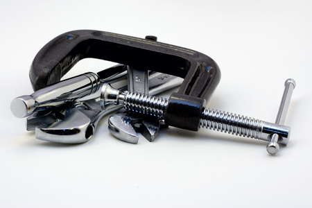 clamp: Clamp Stock Photo