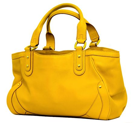 Yellow bag Stok Fotoğraf - 6107854