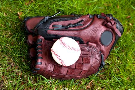 Baseball glove and ball  Stock Photo - 6983239