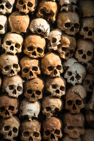 atrocity: Red khmer victim skull