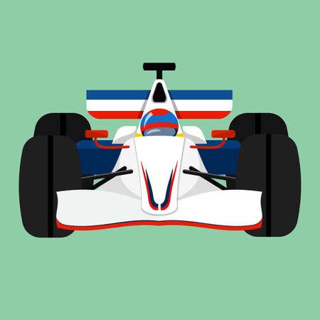 indy: Formula 1 Sport Race Car Illustration