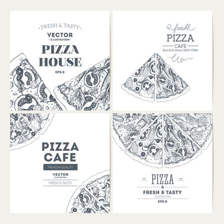 Pizza banner design template. Banner collection. Vector illustration
