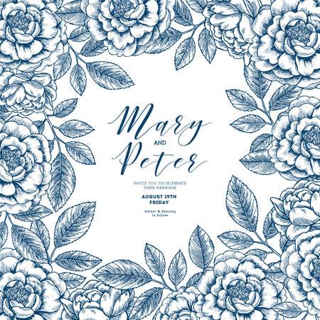 Retro flower seamless flower. Vintage floral background. Vector illustration Illustration