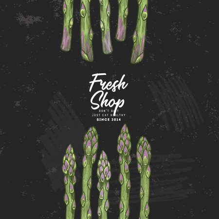 Asparagus illustration design template. Organic vegetables. Vector illustration Illustration