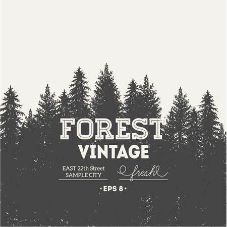 Pine forest. Journey design template.