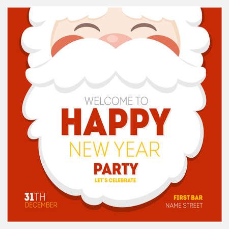 Santa Christmas New Year Greeting Card