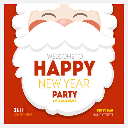 Santa Christmas New Year Greeting Card
