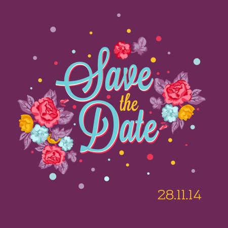 Floral Wedding Invitation  イラスト・ベクター素材