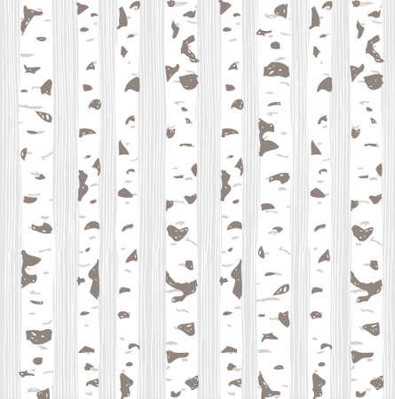 Birch trees seamless pattern. Spring forest background. Vector illustration