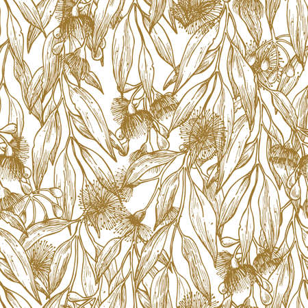 Silver princess flower minimalist seamless pattern. Floral background. Vector illustration