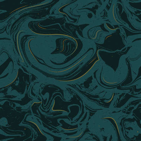 Green and gold marble texture seamless pattern. Style and trendy background. Vector illustration
