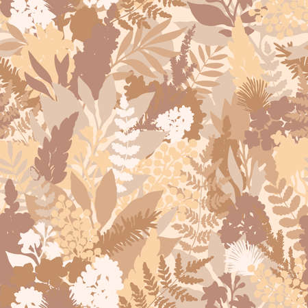 Wild flower pastel seamless pattern. Florals background. Fashion and trendy style. Vector illustration