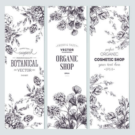 Floral banner collection. Ilustracja